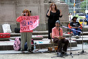 photo of activists speaking at ADA rally